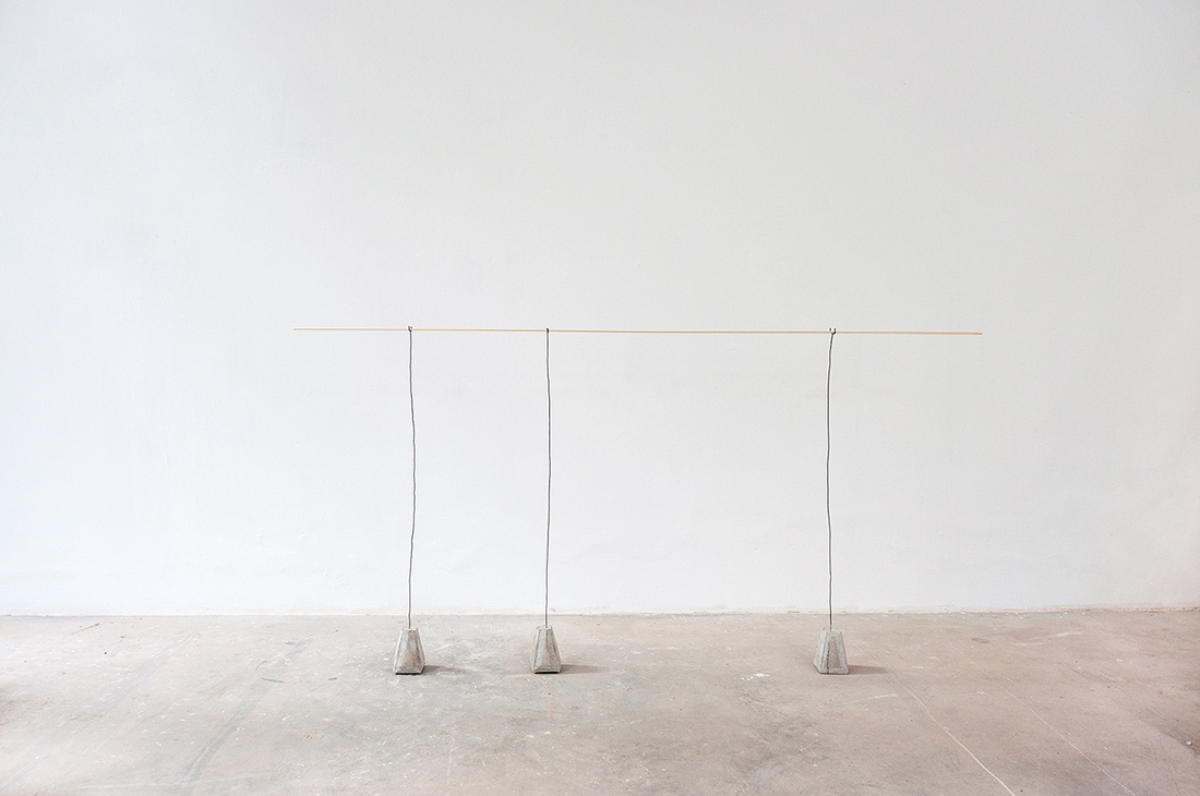 The Ifs And Buts 2015 Concrete Iron Wire Wood 125x200x15 Cm